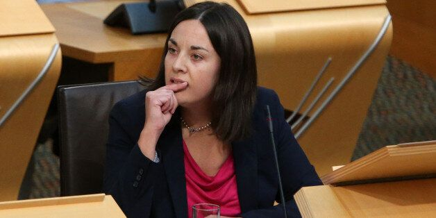 Scottish Labour Party deputy leader Kezia Dugdale during First Minister Questions at the Scottish Parliament...