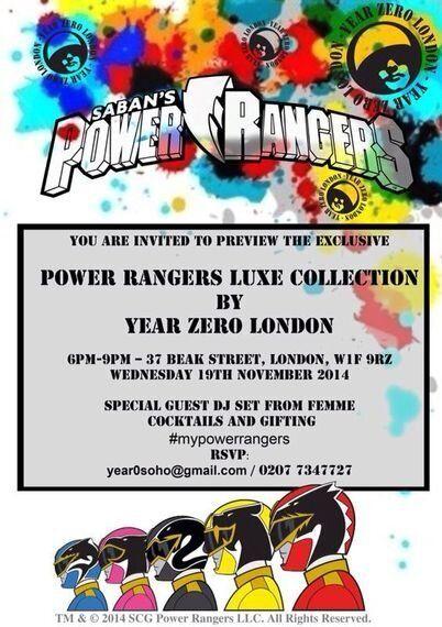 Year Zero London to Launch Power Rangers Lux