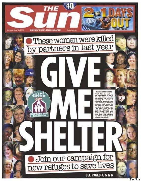 The Sun's Give Me Shelter Domestic Violence Campaign Has Been Warmly Received - Even By Page 3