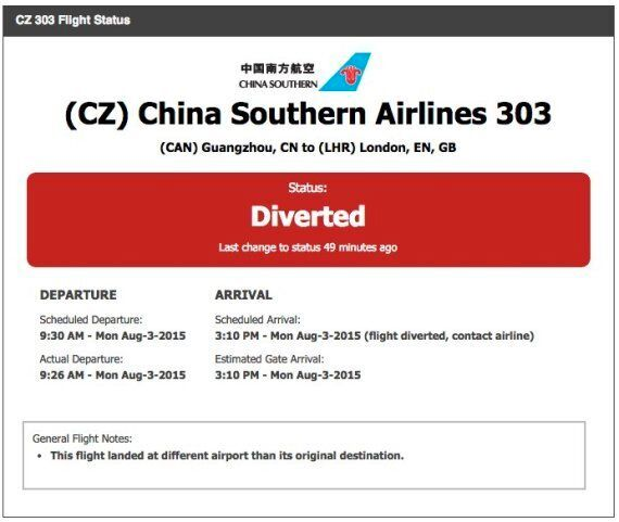 China Southern Airlines Flight Bound For London Runs Out Of Fuel, Makes Emergency Landing in