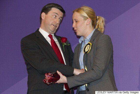 SNP Photobomb Harriet Harman As Labour Holds Onto Dennis Skinner's