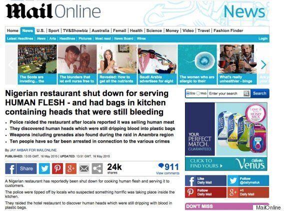 MailOnline Uses Picture Of Hawksmoor Beef To Illustrate Dubious 'Human Flesh' Restaurant