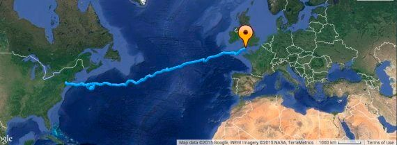 End In Sight For Two Young Britons After Their 4,000-Mile Odyssey Across The Atlantic, Breaking A Guinness...