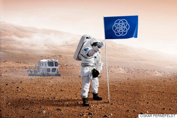 A Student Has Designed The International Flag Of Planet