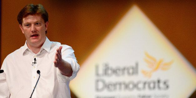 GLASGOW, SCOTLAND - OCTOBER 04: Danny Alexander Chief Secretary to the Treasury addresses the Liberal...