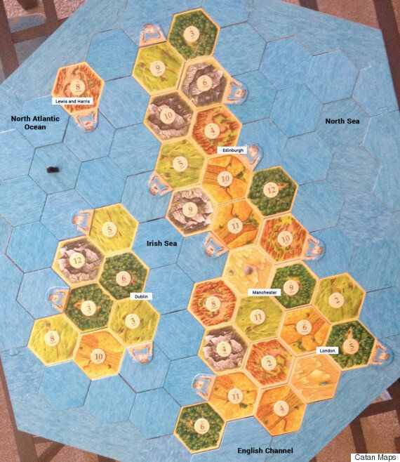Someone Made A 'Settlers Of Catan' Map In The Shape Of The British Isles, And It's