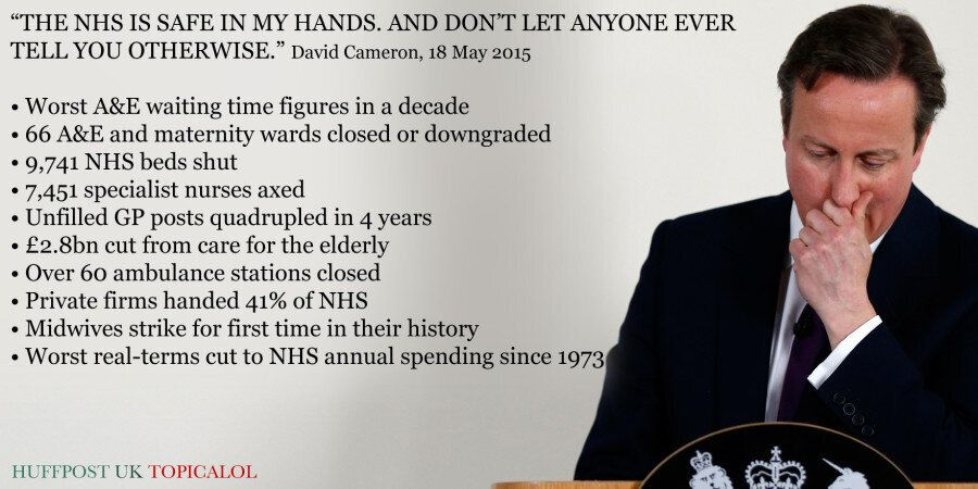 David Cameron Says The NHS Is Safe In His Hands. Erm... | HuffPost UK