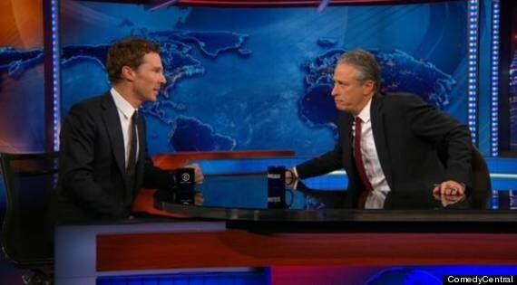 'The Daily Show' Host Jon Stewart Tells Guest Benedict Cumberbatch, 'I Want To Rip Your Clothes Off'