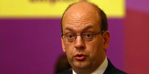 UKIP Candidate Mark Reckless speaks during a UKIP public meeting at the Guildhall in Rochester, Kent,...