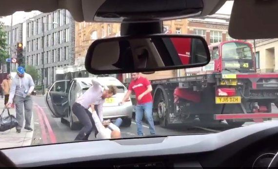 Road Rage Between Uber Drivers And Passenger Over 'Clipped Wing Mirror' Caught On