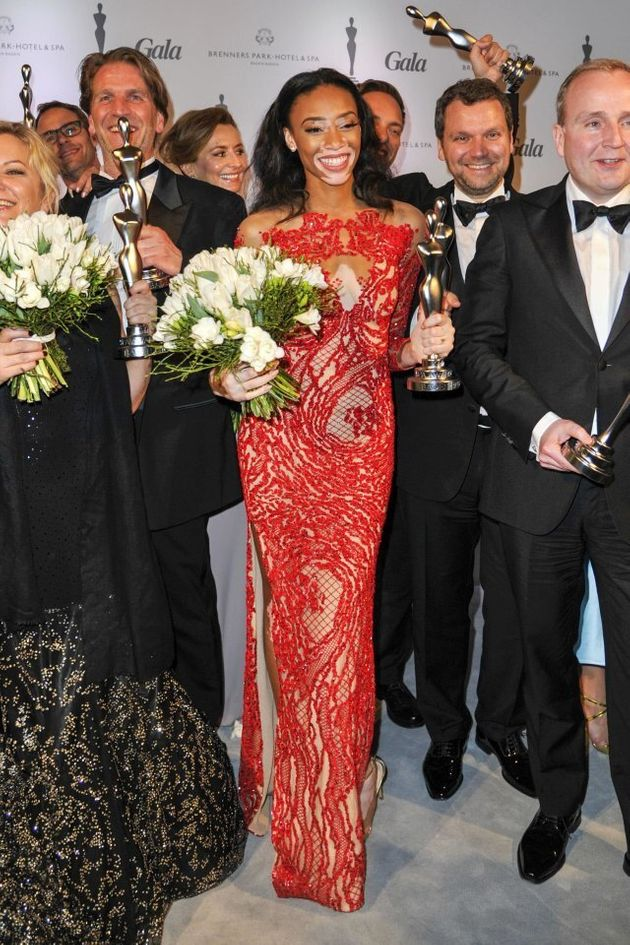 Mandatory Credit: Photo by Picture Perfect/REX (4582196c) Chantelle Brown-Young Gala Spa Awards, Baden-Baden,...