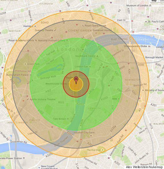 Atomic Bombings Of Hiroshima And Nagasaki Visualised For The World By Nukemap