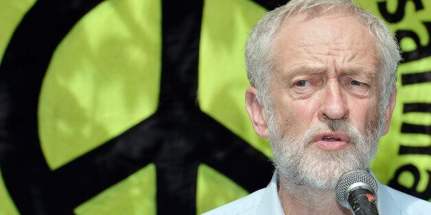 Jeremy Corbyn speaks during an event to mark the 70th anniversary of the Hiroshima bomb, in Tavistock...