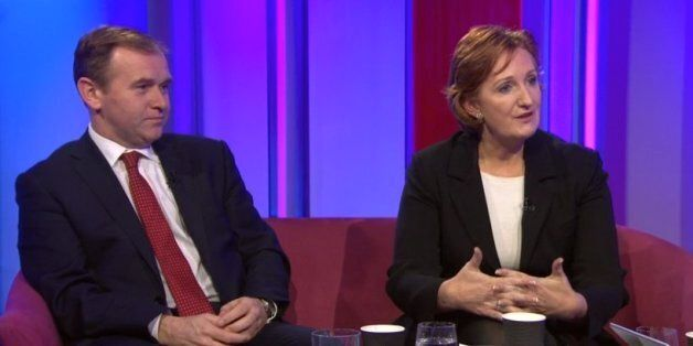 Suzanne Evans (left) with Tory MP George Eustice on the
