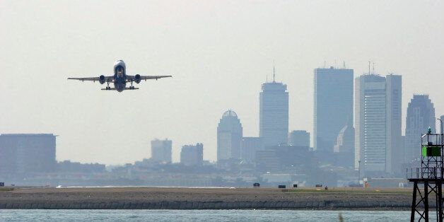 The incident occurred at Boston Logan Airport on Saturday (file