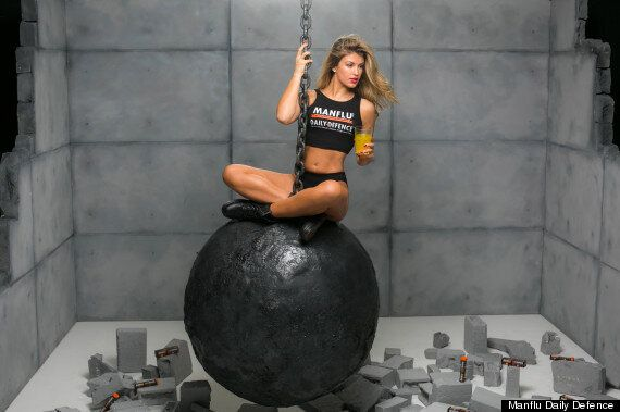 Amy Willerton Strips To Underwear For Miley Cyrus-Inspired 'Wrecking Ball' Photo Shoot