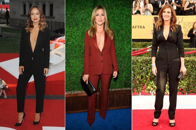 12 Women Who Make The Tuxedo Trend Look