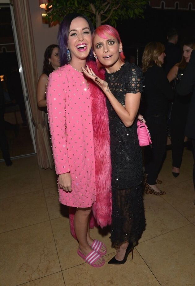 WEST HOLLYWOOD, CA - JANUARY 22: Singer/songwriter Katy Perry (L) and designer Nicole Richie attend The...