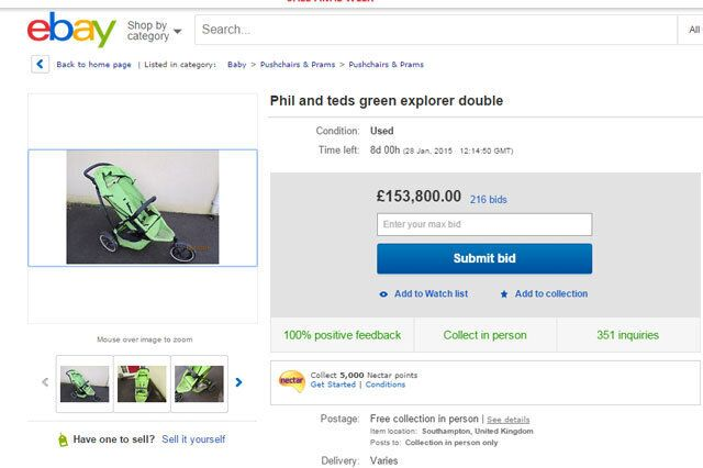 Unhappy Dad Puts Up Hilarious Advert For Kids' Buggy On EBay