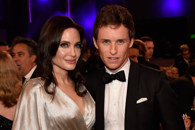 Angelina Jolie Hangs Out With Eddie