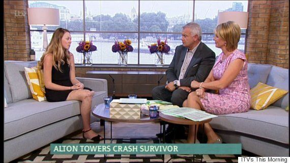 Alton Towers Victim Leah Washington Bravely Shows Off Scars In First TV Interview Since Her Leg Was
