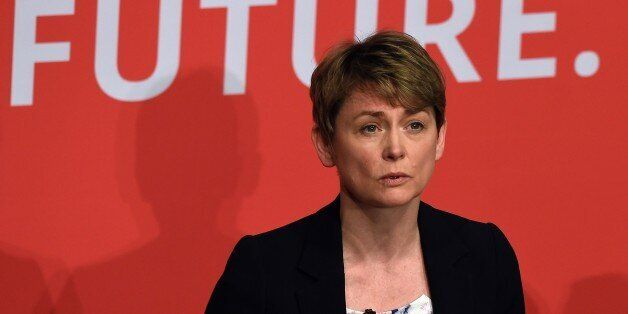 Yvette Cooper takes part in a Labour Party leadership hustings event in Warrington, north west England...