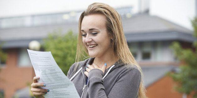 Teenage Girl Happy With Good Exam