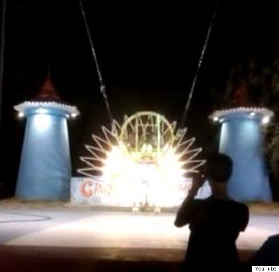 Luna Park Slingshot Ride Snaps In Terifying Fairground