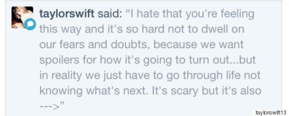 Taylor Swift Gives Fan Advice On Tumblr About Starting