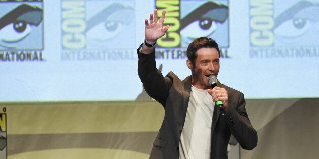 SAN DIEGO, CA - JULY 11: Actor Hugh Jackman speaks onstage at the 20th Century FOX panel during Comic-Con...
