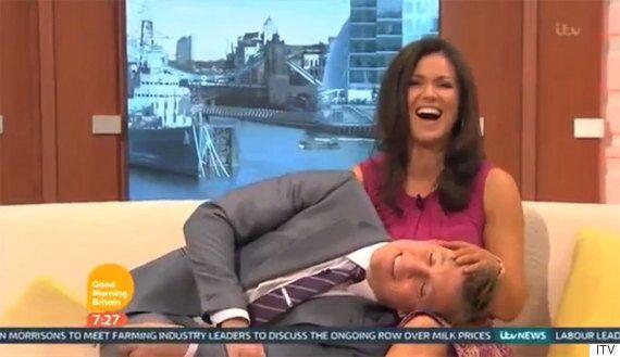 Ben Shephard Is Susanna Reid's Lapdog (Literally) As 'Good Morning Britain' Presenter Lies On Co-Presenter...