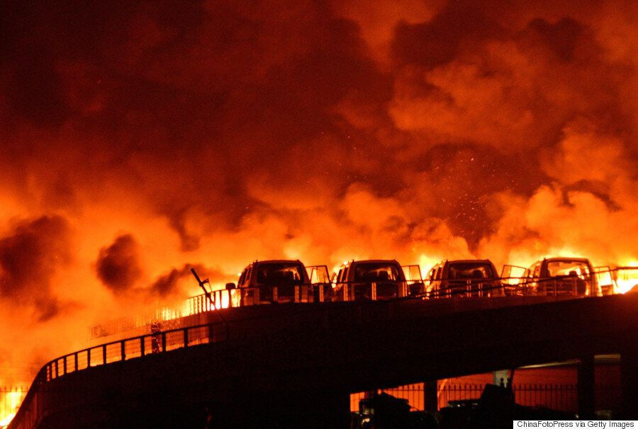 China Explosion Video: Shocking Footage Of Blast Tearing Through Port City Of