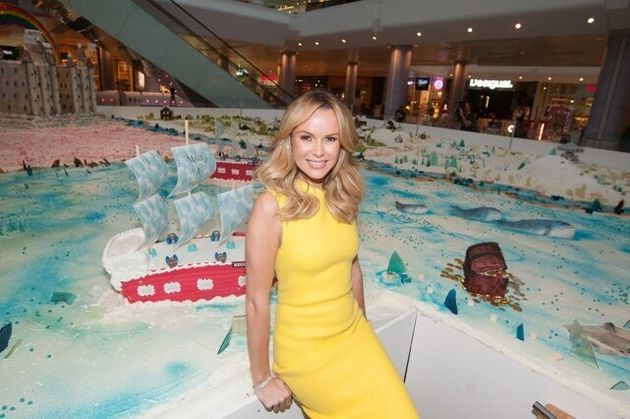 World's Largest Cake Sculpture - photocall at Westfield White City. Featuring: Amanda Holden Where: London,...