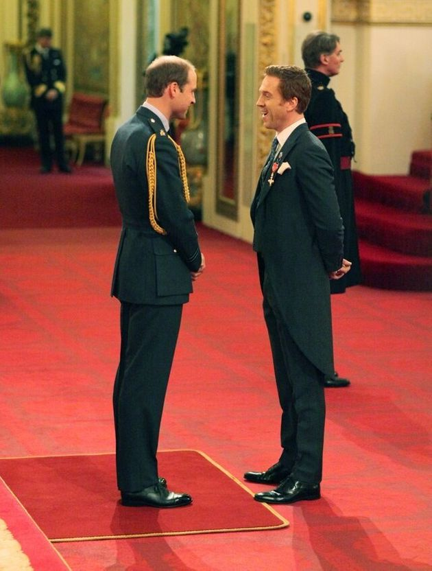 Damian Lewis from London is made an Officer of the Order of the British Empire (OBE) by the Duke of Cambridge...