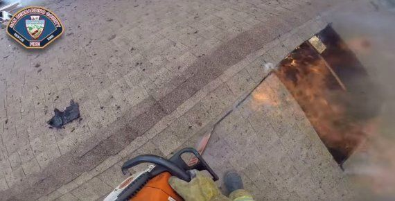 Californian Firefighters Release Incredible GoPro Video Of Them Extinguishing