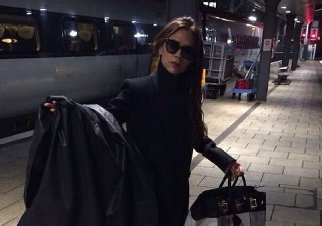 Bag Lady: Victoria Beckham Takes Train To Manchester To Launch Latest