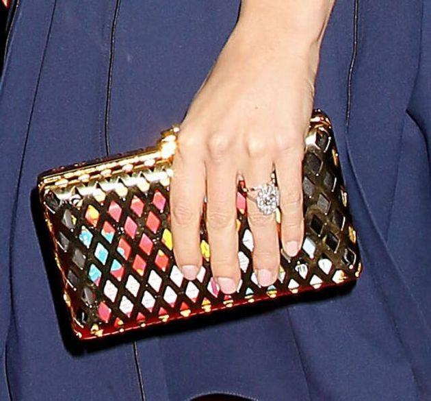 Mandatory Credit: Photo by Startraks Photo/REX (4251809j) Scarlett Johansson wearing two rings on her...