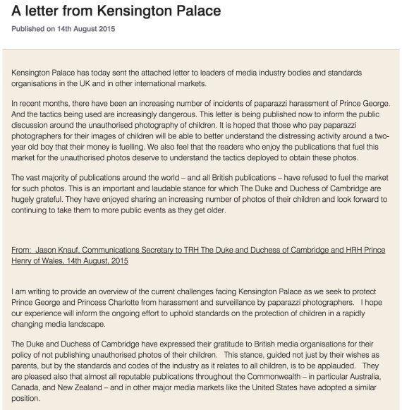 Prince George: Kensington Palace Warns Over Disturbing Paparazzi Tactics To Photograph