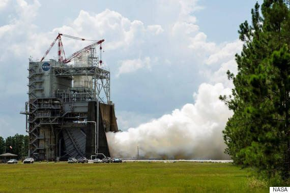 NASA Tests World's Most Powerful Rocket Engine In Preparation For Mars