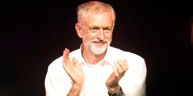 Labour leadership contender Jeremy Corbyn during a campaign rally at the Edinburgh International Conference...