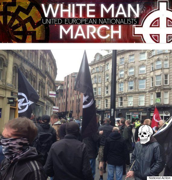 Liverpool: White Man March Neo-Nazis Cower In Station Depot After Being Pelted With Rubbish, Then Cancel
