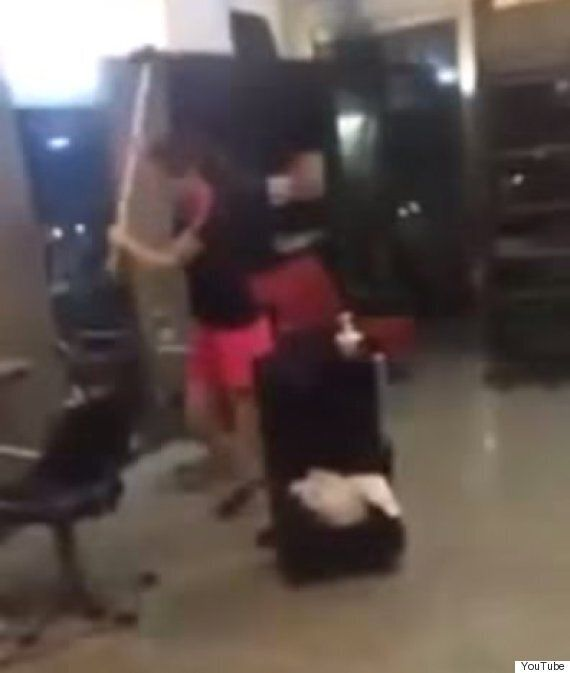 Video: Watch As Woman Angry About New Haircut Destroys The Salon With A