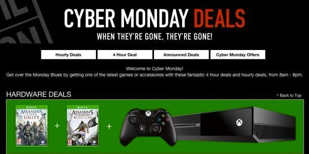 Cyber Monday 2014 UK: Best Deals At Game, Amazon And