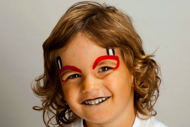 Halloween Face Painting Tutorial Little Devil Huffpost Uk Parents
