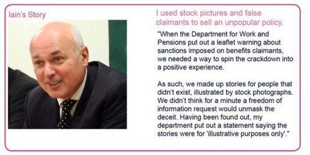 Fake Benefit Sanctions Leaflet Leaves Iain Duncan Smith