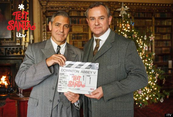 George Clooney In 'Downton Abbey': First Look At Hollywood Star On Set With Hugh Bonneville As Robert...
