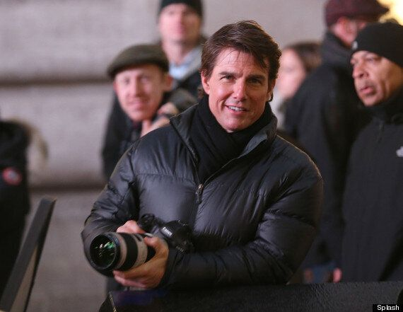 Tom Cruise Films Fifth 'Mission Impossible' Film In London's Piccadilly Circus. (Almost) No One Notices...