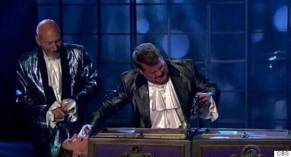 James Corden And Patrick Stewart Perform 'Late, Late Show' Magic Routine, And Saw An Audience Member...