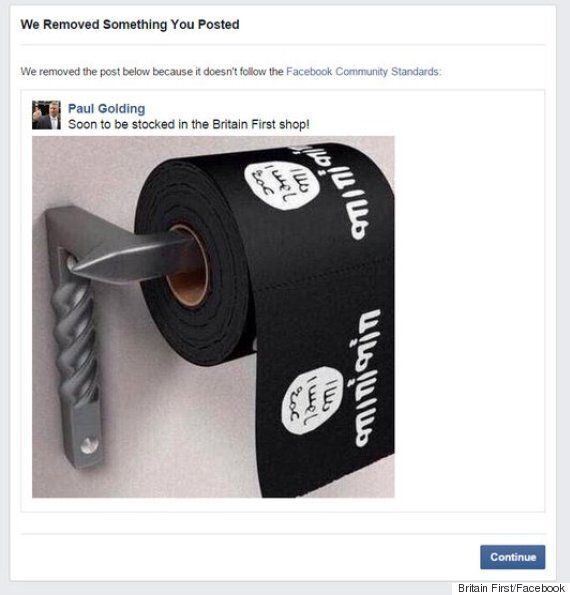 Facebook 'Sincerely Apologises' To Britain First For Removing Post Mocking Islamic
