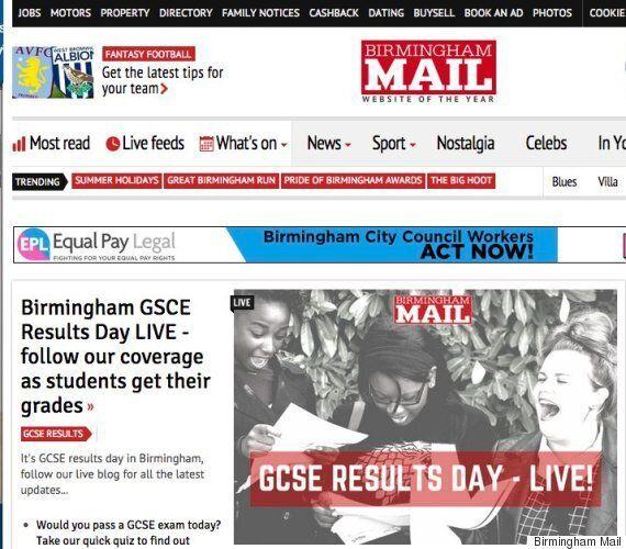 Local Newspaper Birmingham Mail Live Blogs GCSE Results. Spells GCSE